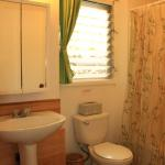 bath, toilet & shower between the two bedrooms (with additional outdoor shower available).