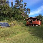 hale la with solar panels that keep the cottage self sufficient.